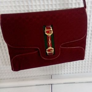Gucci shoulder bag vintage color burgandy